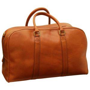 Soft Calfskin Leather Travel Bag - Gold