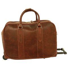 Oiled Calfskin travel bag - Chestnut