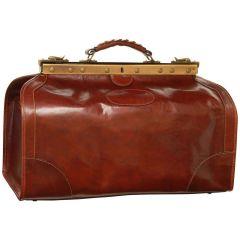 "Leather ""Old America"" Bag (Medium) - Brown"