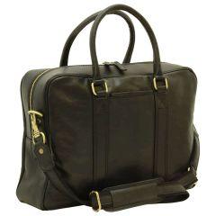 Soft Calfskin Leather Briefcase - Black