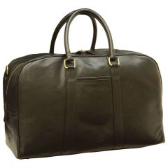 Soft Calfskin Leather Travel Bag - Black