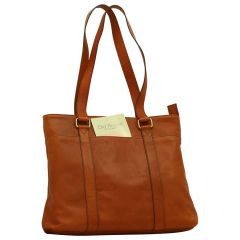 Soft Calfskin Leather Tote Bag - Brown Colonial