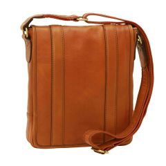 Soft Calfskin Leather Satchel Bag - Gold