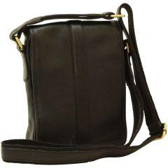 Soft Calfskin Leather Satchel Bag - Black