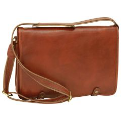 Calfskin Nappa Messenger Bag - Brown