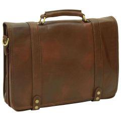 Calfskin Nappa leather briefcase - Dark Brown