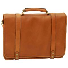Calfskin Nappa leather briefcase – Gold