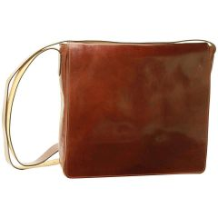 Cowhide Leather Messenger Bag – Brown
