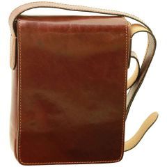 Cowhide leather cross body bag - Brown