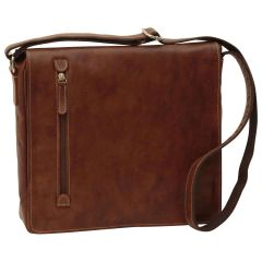 Lightweight Messenger Bag - Chestnut