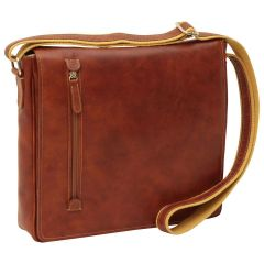 Lightweight Messenger Bag - Brown Colonial
