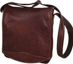 Oiled Calfskin Cross body bag - Chestnut