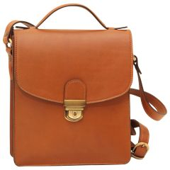 Classica II Leather Satchel- Brown Colonial