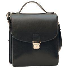 Classica II Leather Satchel- Black