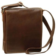 Leather I-Pad bag - Dark Brown