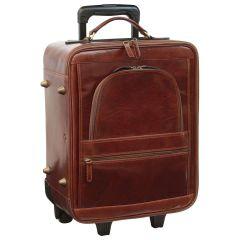 Cowhide leather trolley - Brown
