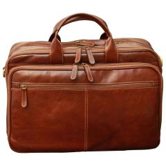 Italian Leather Briefcase - Brown