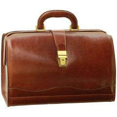 Cowhide leather Doctor's bag - Brown