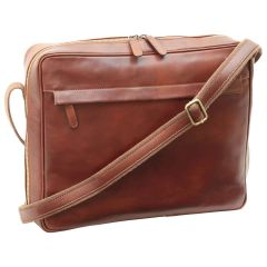 Vachetta Leather Messenger - Brown