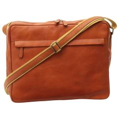 Vachetta Leather Messenger - Brown Colonial