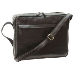 Vachetta Leather Messenger - Black