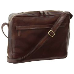Vachetta Leather Messenger - Dark Brown