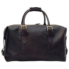 Cowhide leather Travel Bag - Dark Brown