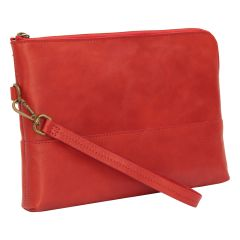 Full grain calfskin document case - red