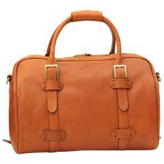 Cowhide leather duffel bag - Brown Colonial