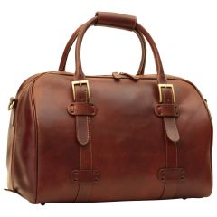 Cowhide leather duffel bag - Brown