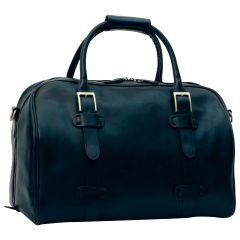 Cowhide leather duffel bag - Black