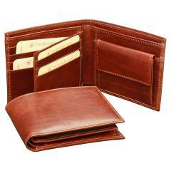 Vachetta Leather Bifold Wallet - Brown