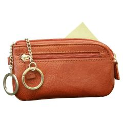 Italian leather key chain - Brown