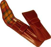 Leather Pocket Protector - Brown