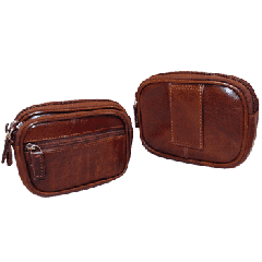Leather Belt Case - Brown
