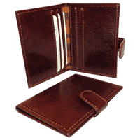 Wallet with snap closure - Brown